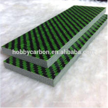 Green Color Kevlar thick cprf plate