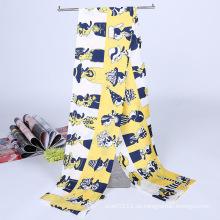 Lady Fashion Printed Satin Seide Magie Mutifical Kragen Schal (YKY1091-7)
