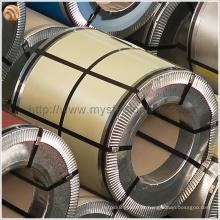 TDC51D + AZ telhado de metal folhas usadas cor de marfim pré-pintados Galvalume bobina de aço com filme protetor