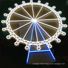 Wholesale fashion led custom  flex neon signs illuminated logo for bar store wedding