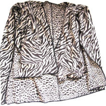 Capa de leopardo cebra de lana