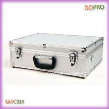 Silver Aluminum Frame Hard Briefcase Tool Box (SATC015)