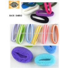 colored ponytail holders/fashion towel ring