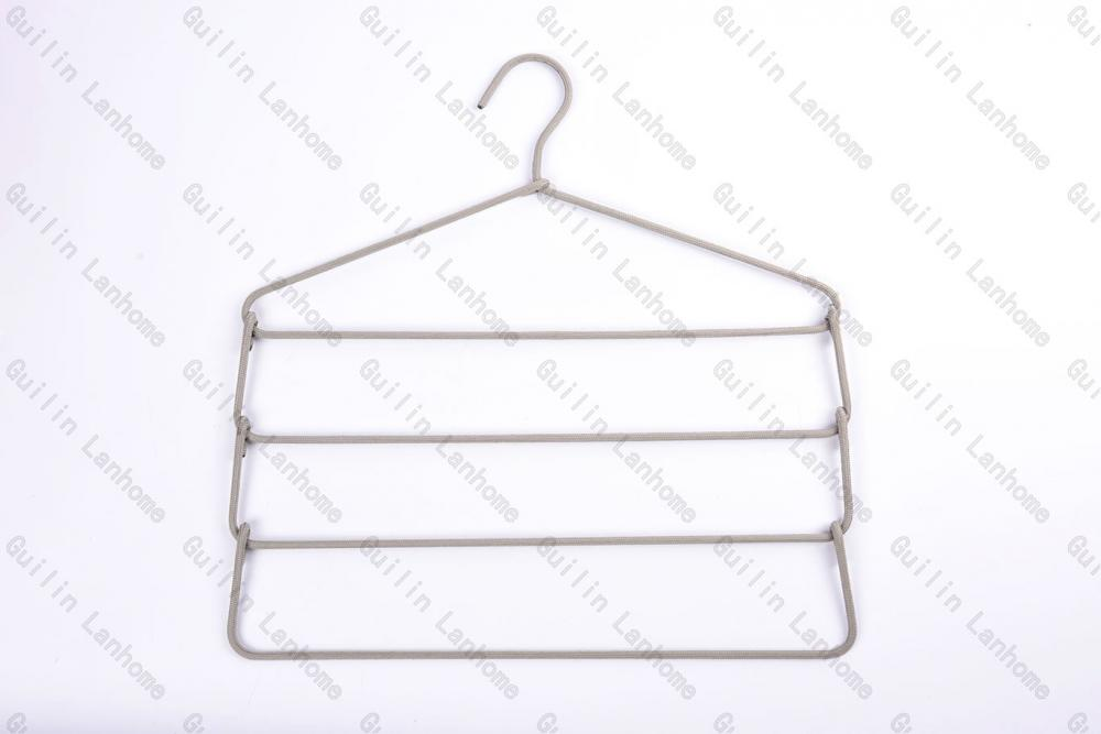 Fashion Multi-functional 4 Layers Fabric Wrapped Hanger