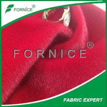 good quality polyester fake natural mink fur jacket fabirc