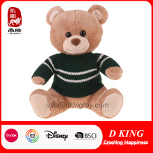 ASTM Soft Plush Stuffed Toy Teddy Bear in Green Sweater