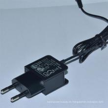 Adaptador de corriente universal 12V 0.5A, 5V1000mA AC / DC Adaptador de corriente alterna AC de la UE