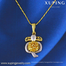 31077 xuping fashion multicolor gold plated turtle pendant