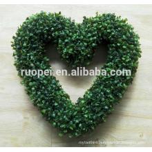 Diameter 40cm heart shaped wreaths for showcase