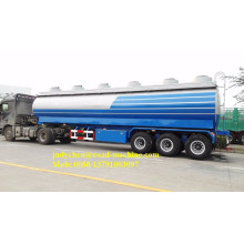 40000L Aluminum  Cooking Oil Tanker Trailer