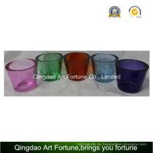 Heißer Verkauf Glas Teelicht Halter mit Denken Wand-Kleine Bunte