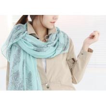 Polyester Lady gefärbte Schal Neueste Mode Frauen
