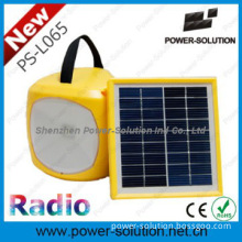 2014 new designed rechargeable solar lantern with radio, USB charger,
