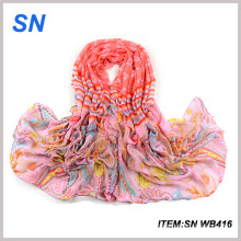 Chales y bufandas de moda a granel de primavera al por mayor