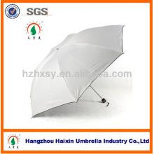 Fábrica del paraguas de la protección ULTRAVIOLETA de la promoción de 3 dobleces en China