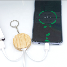 ECO-Friendly  USB Cable Christmas Gift Phone Bamboo   Charging Cable 3 in 1 USB Cable