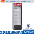 display counter commercial juice single door refrigerator with lock and key