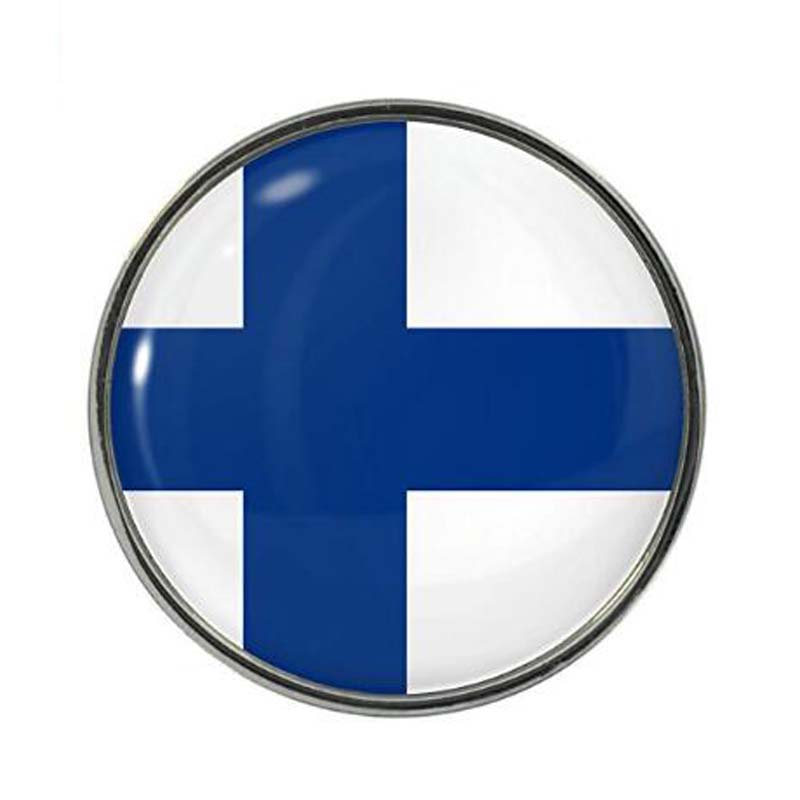 Finland Flag Design Pin Badge