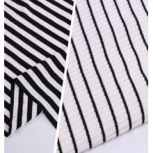 Neue Zebra gestreifte Rippen gestrickte Ployester Spandex Stoffe