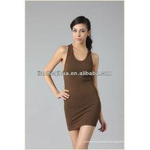 Alta qualidade vestido barato mulheres casual, verão vestido sem mangas sexy curto