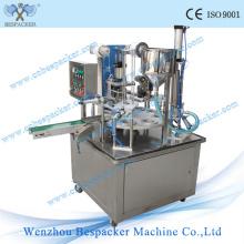 Machine de remplissage automatique à capsule de café en plastique rotatif