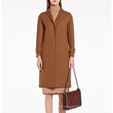 17PKCSC019 mulheres dupla camada 100% casaco de lã de cashmere