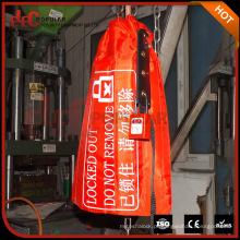Elecpopular alta qualidade Crane Controller Lockout saco com etiquetas de aviso 230mmx400mm