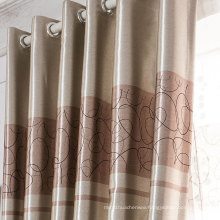 Polyester satin fabric curtain blackout curtain family curtain