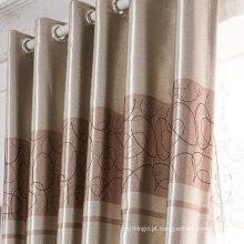 Cortina de tecido de cetim de poliéster cortina blackout cortina da família
