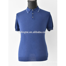 Fashionable men knitted cotton polo shirt