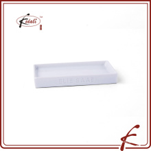oem ceramic rectangular soap dish