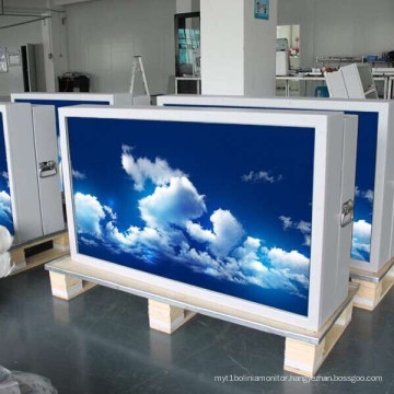 82 Inch Outdoor Free Standing Air Condition Sunlight Readable Water Proof Network LCD Digital Signage
