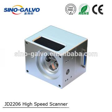 Alta velocidade e alta precisão 10mm feixe de tamanho JD2206 galvo scanner / unidade de deflexão / cabeça de varredura / para marcação a laser
