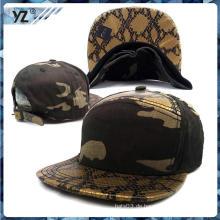 Heißes verkaufendes snakeskin Leder Snapback Kappe China-kundenspezifischer Hysteresenhut mit niedrigem Preis