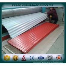 Painel de telhado ondulado de aço galvanizado fabricado na China