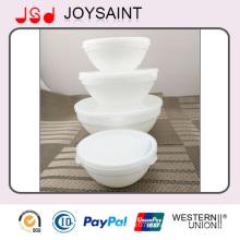 Оптовая Белый Изысканный Стол Использования Стеклянная Чаша Стеклянного Чаша для Фруктов и Пищи