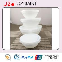 Оптовая Белый Изысканный Стол Использование Стеклянной посуды Стеклянный Суп Чаша для Фруктов и Пищи