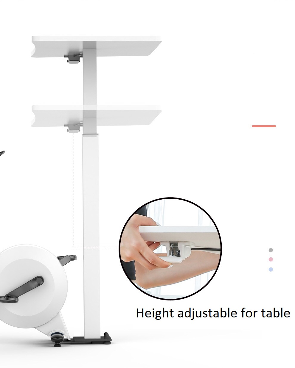 height adjustable for table in office