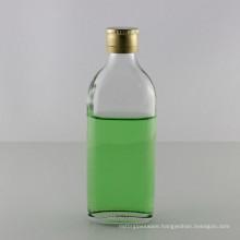 150ml Screw Neck Flat Glass Wine Bottle with Aluminum Cap
