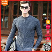 Suéter de punto de la vendimia de los modelos que tejen CALIENTES con la cremallera para los hombres
