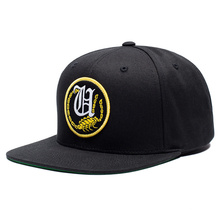 Yupoong Wholesale Plain Snapbacks Black