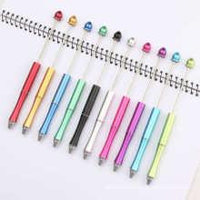 Hot Sale Add A Bead Metal Beadable Ballpoint Diy Pen Water Drop Top DIY Beadable Metal Pen Handcraft Decorative With Jewelry