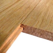 Plancher de bambou solide tissé naturel de brin