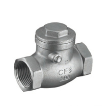 Válvula de retención oscilante de rosca de acero inoxidable 200 psi (GAH14W)