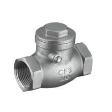 Válvula de retenção de aço inoxidável com rosca de 200 psi (GAH14W)