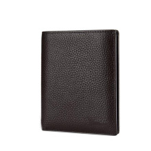 Customized logo Genuine Leather Men's Wallet with Windows