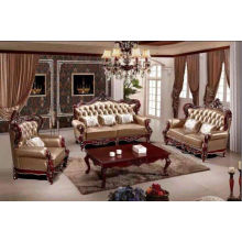 Antique Leather Sofa, New Classic Sofa (2203)