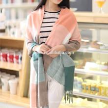 A652 LINGSHANG pañuelos de moda de pashmina de diseño de tartán y bufanda de lana bufandas