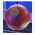 Custom Ceiling Scrolling Sphere LED Video ball
