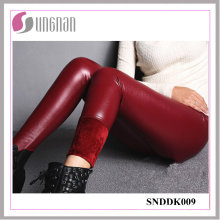 2015 Fashion PU Leather High Waist Pants Thickening Fleece Leggings